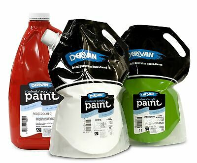 1x Derivan Student Acrylic 2L, 22 colours to choose from