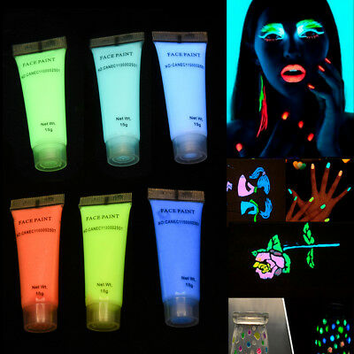 Color Photoluminescent Glow Bright Fluorescent For DIY Body Art Paint Printing O