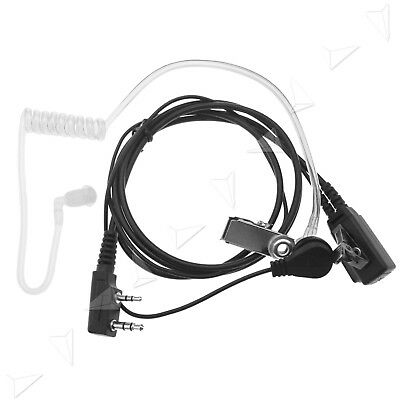 Covert Acoustic Air Tube Earpiece Agent Headset For Kenwood Walkie Talkie AU