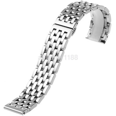18mm20mm22mm Metal Watch Band Polished Stainless Steel Bracelet Solid Link New