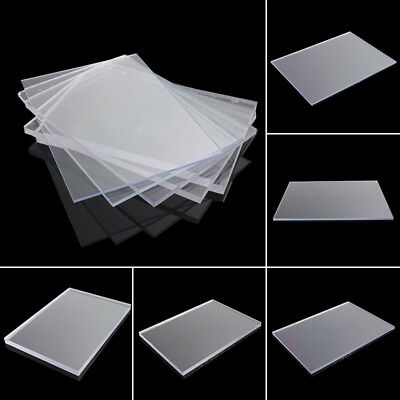2/3/4/6/8mm Clear Acrylic Perspex Sheet Custom Cut To Size Panels Plastic Panel