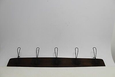 Antique Primitive Old Wooden Wood And Metal Wall Hanger.