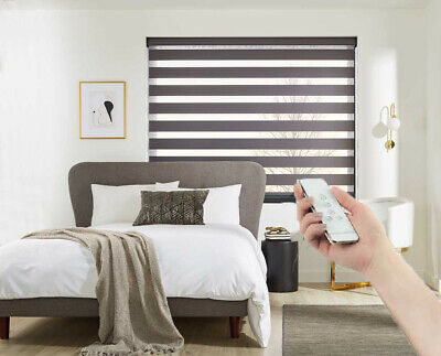 Motorised Day & Night Blinds with Remote  - Soft - UK PRODUCT - Made to measure