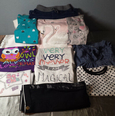 Lot of 11 Pants, Dress & Shirts Girl's Clothes Size 5T LOOT BOX