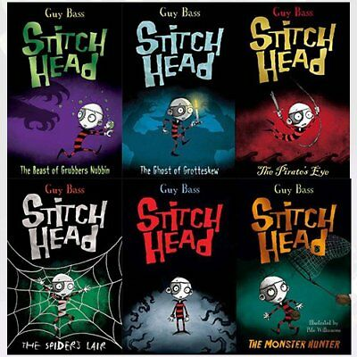 Stitch Head Collection Guy Bass 6 Books Set Ghost of Grotteskew, Monster Hunter
