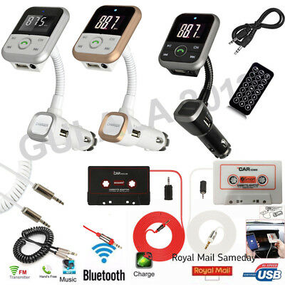 Wireless Bluetooth Car MP3 Player FM Radio Transmitter Tape Cassette Adapter Kit
