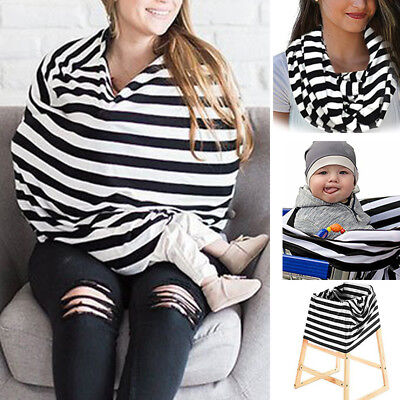 Women Nursing Breastfeeding Cover Baby Car Seat Canopy Scarf Top Apron Blouse