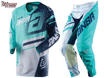 ANSWER Elite Motocross Combo 2018 Teal Navy MX Enduro Hose Jersey
