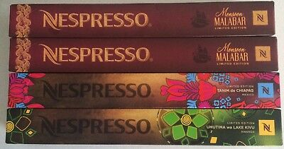 4 Limited Edition Nespresso capsules Sleeves