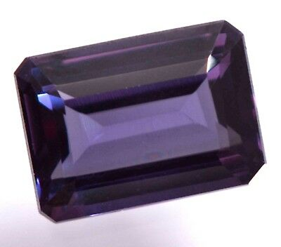 10.15 Ct Natural Alexandrite Color Changing GGL Certified Emerald Cut Gemstone