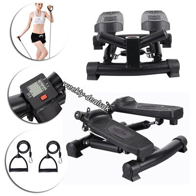 Mini Stepper Gym Exercise Leg Thigh Toning Workout Fitness Stair Arm Cord Climb