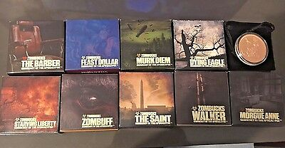 ZOMBUCKS COPPER PROOF EDITION COMPLETE SET CURRENCY Of THE  APOCALYPSE
