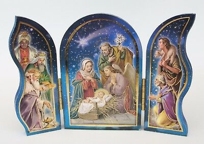 Nativity Triptych Folding/standing plaque