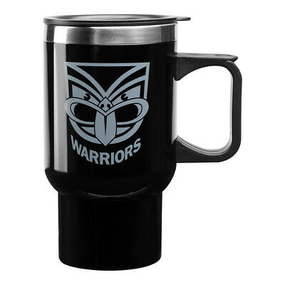 New Zealand NZ Warriors NRL Steel Thermal Insulated Travel Coffee Mug W Handle