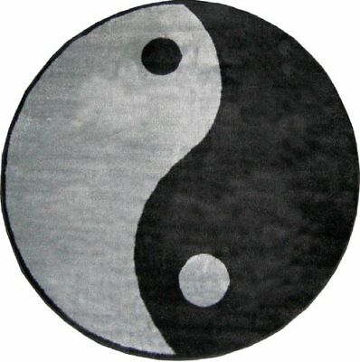 Yin Yang Accent Rug, 51-Inch Round, Harmony of the Universe, The Way Taoism NEW