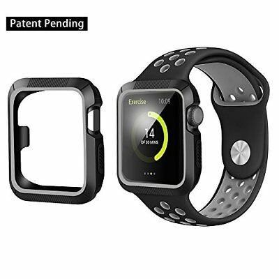 Cover Case Bumper TPU 42mm Black Gray Accessories for Apple Watch Series 2 1 New