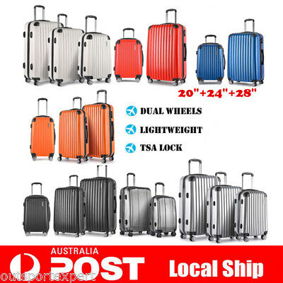 "3/2/1PCS Hard Shell Travel Luggage Suitcase Trolley Set TSA Carry On Bag 20""-28"""