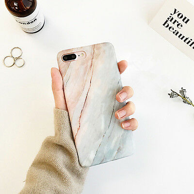 Art Glossy Granite Marble Soft TPU Phone Case Cover For Apple iPhone X 6s 7 Plus