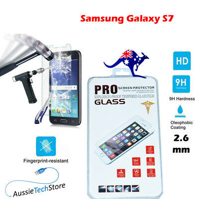 Samsung Galaxy S7 Tempered Glass Screen Protector Film 9H