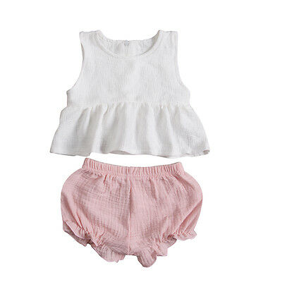 AU Stock Toddler Kids Baby Girls Outfits Clothes T-shirt Tops Dress+Pants 2PCS