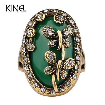2017 New Dragonfly Love Rings For Women Color Ancient Bronze Tibetan Alloy Bo...