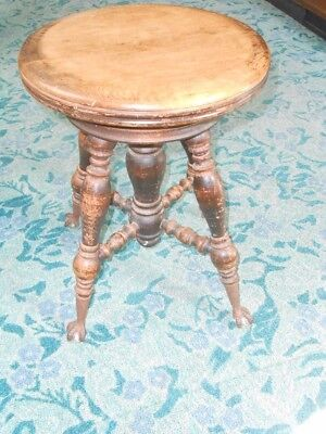 Antique Piano Stool - Holtzman Solid Walnut, Ball & Claw