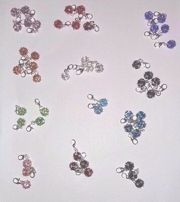 49 X Clip On Dangle Birthstone Bead For Key-Chain Bracelet Job-Lot
