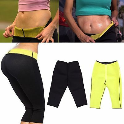 Women Hot Thermo Sweat Neoprene Body Shaper Running Leggings Exercise Yoga Pants