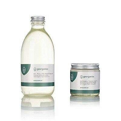 Georganics Natural Toothpaste 120ml and Coconut Oil Pulling Mouthwash 300ml