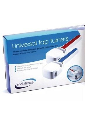 Pair of Universal Tap Turner Gripping Aid for Hot and Cold  Taps Mobilease Bath