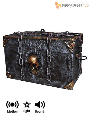 Animated Runaway Haunted Chest Prop + Lights Sound Halloween Party Decoration
