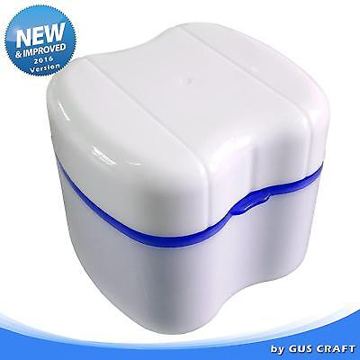 Strong Denture Box with Simple Retrieval Tab, Perfect To Safe Guard Dentures...
