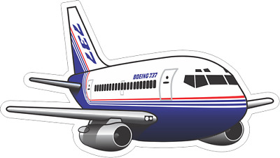 Boeing 737-200 aircraft sticker