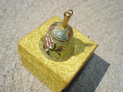 Cloisonne Never Used A1 Chinese gorgeous antique Plique a Jour enamel Small Bell