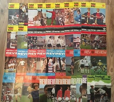 """Job Lot 43 x Vintage Issues """"Football League Review"""" Magazine 1960's 1970's"""