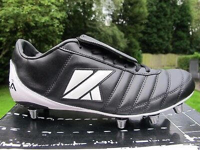 Kooga Classic CS-4 MCHT Adults Black/White Boots size uk 13   48   8 stud rugby