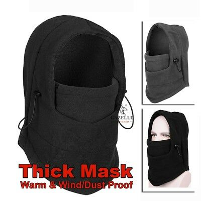 Winter Thermal Fleece Balaclava Full Face Mask Cover Hat Cap Ski Motorcycle New