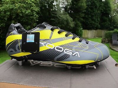Kooga Evade SG Boots Adults BlackYellow  11  12   13  MENS RUGBY LOW CUT BOOT