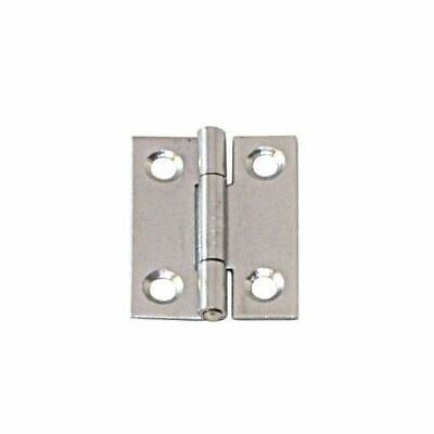 Narrow Hinge Stainless Steel Satin Finish 50 x 31 x 1.1mm LINDEMANN
