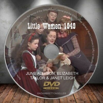 Little Women (1949) June Allyson, Elizabeth Taylor & Janet Leigh Classic Dvd