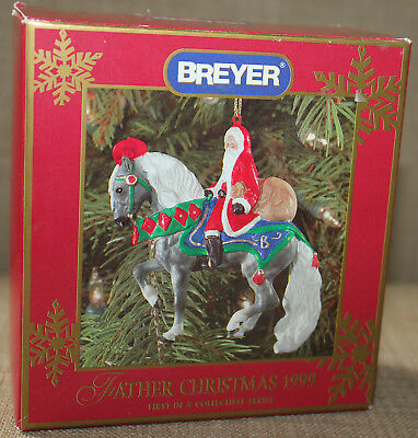 Breyer Father Christmas Ornament 1999 New Sealed Opened For Picture