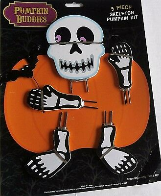 HALLOWEEN PUMPKIN BUDDIES  5 Pieces  SKELETON PUMPKIN KIT
