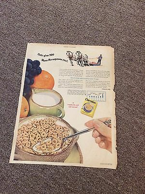 1948 Vintage Cheerios Ad As Featured In Country Gentleman Magazine
