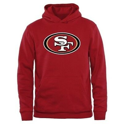 (Youth Small 8, San Francisco 49ers) - NFL Youth Team Logo Pullover Fleece