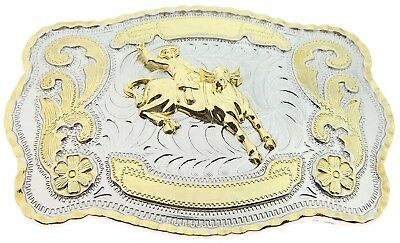 RIDE AWAY Cowboy Big Belt Buckle Bull Riding Western Bull Rider Rodeo New Texas