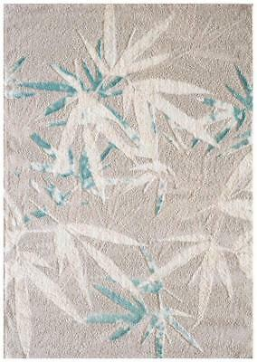 Palm Springs Stone and Soft Blue Rug Modern Rugs Floor Carpet Home
