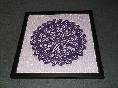 Handmade Doily: Fabric Background: Framed: Your Choice