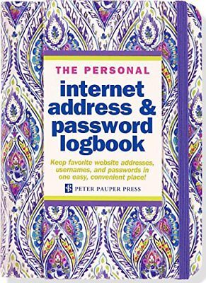 Silk Road Internet Address & Password Logbook Hardcover-spiral