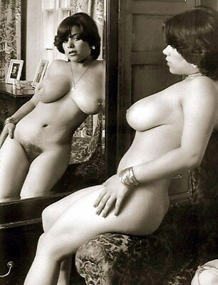 Retro Wintage Fine Art the girl in front of the mirror  Photograph 4 * 3 inch