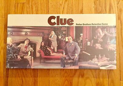 Vintage 1972 PARKER BROTHERS Clue Detective Board Game NEW FACTORY SEALED